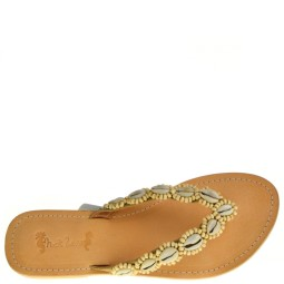 Hot Lava Dames Slippers in Goud online kopen
