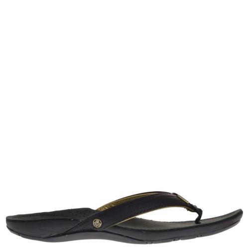 reef slippers black gold for women