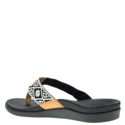 Reef Ortho-Bounce Dames Slippers in Zwart online kopen
