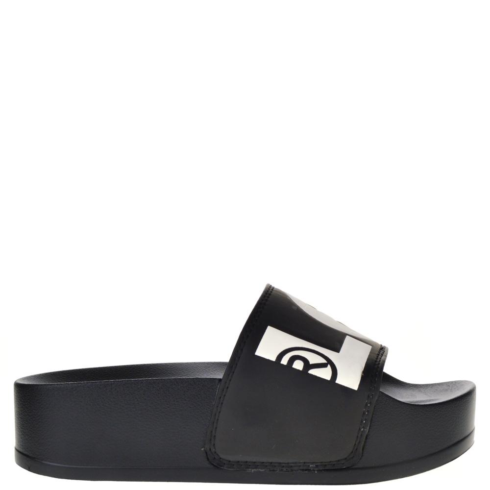 Levis Platform Slippers Black for Woman