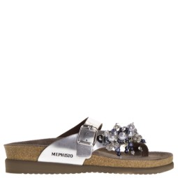 mephisto dames slippers zilver