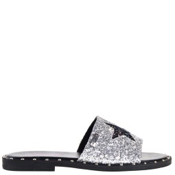 Les Tropeziennes Sllippers Silver Glitter for Women
