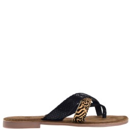 lazamani dames slippers naturel