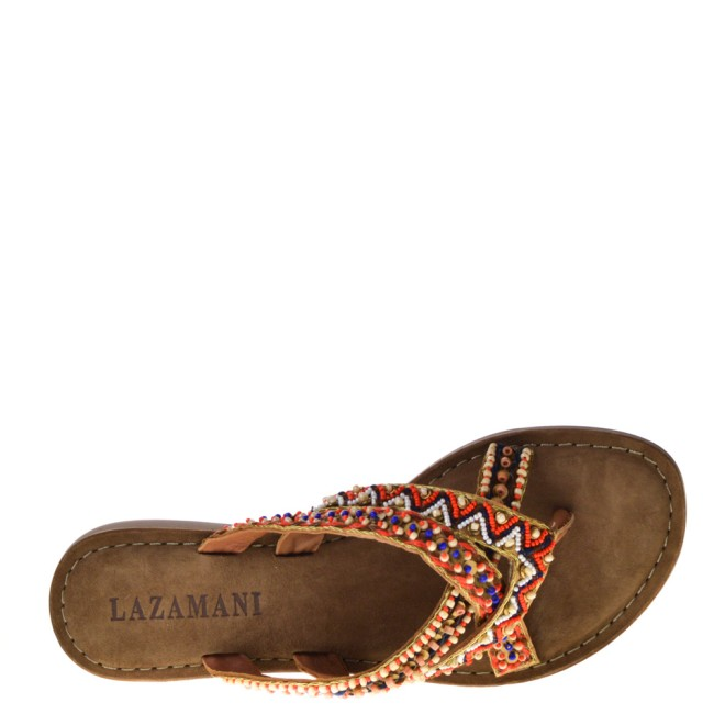Lazamani Dames Slippers in Naturel online kopen
