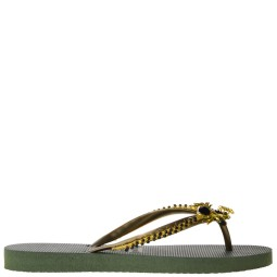 Uzurii Black Spider Dames Slippers in Groen online kopen
