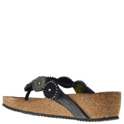 Lazamani Dames Sleehak Slippers in Black online kopen