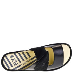 Fly London Bade954 Dames Sleehak Slippers in Zwart online kopen