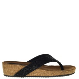 lazamani dames slippers sleehak zwart