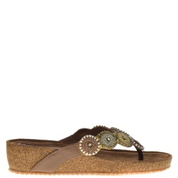 Lazamani dames Sleehak Slippers in Naturel online kopen.