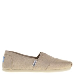 toms dames slip ons naturel metallic