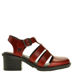 fly london dames sandalen met hak rood