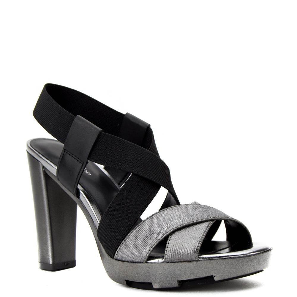 calvin klein dames sandalen high heels zwart 19 zwart combi direct leverbaar uit de webshop van. Black Bedroom Furniture Sets. Home Design Ideas