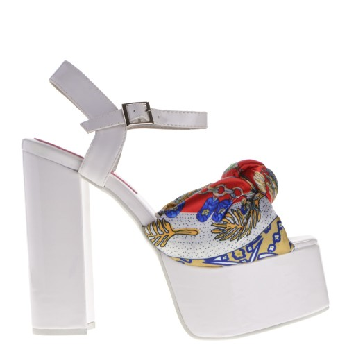 White Women Sandals For Jeffrey Campbell Platform HED9IW2Y