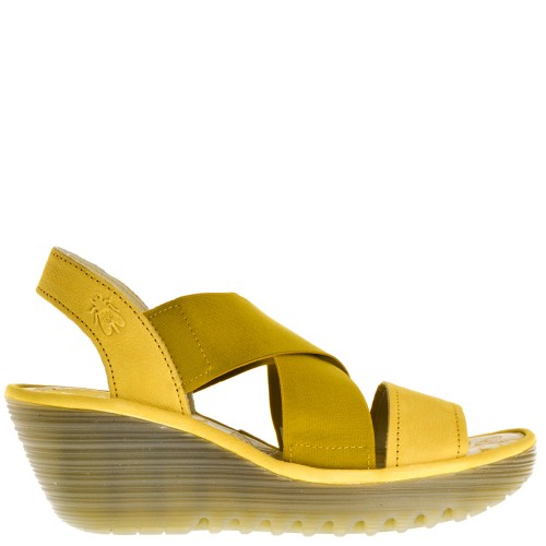 de4662939c3a4 Fly London Wedge Sandals Yellow for Women 03 yellow