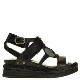 AS98 dames sandalen sleehak zwart