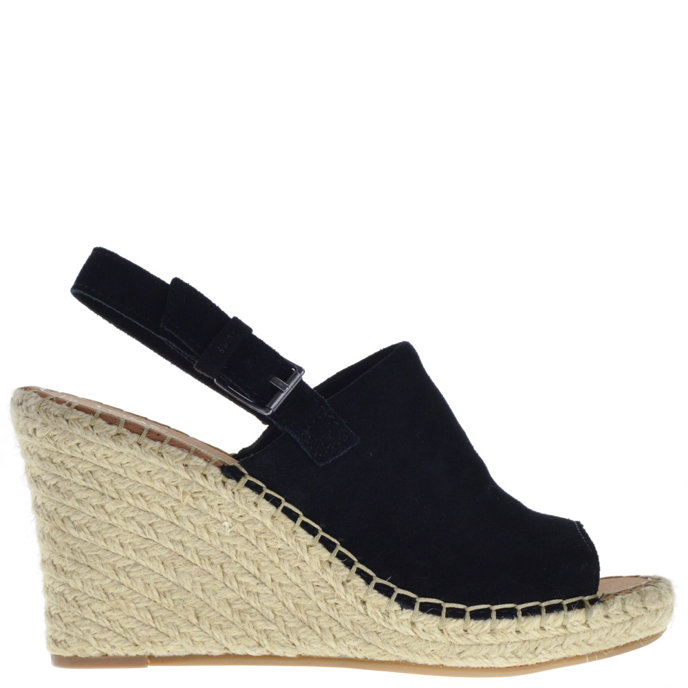 cdff1e02aaa Toms Wedge Sandals Black for Women