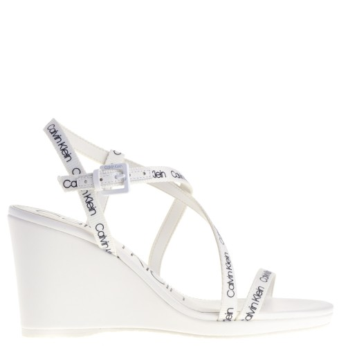 cc1fbfe9610 CALVIN KLEIN WEDGE SANDALS WHITE FOR WOMEN