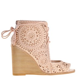 jeffrey campbell dames sleehak sandalen naturel