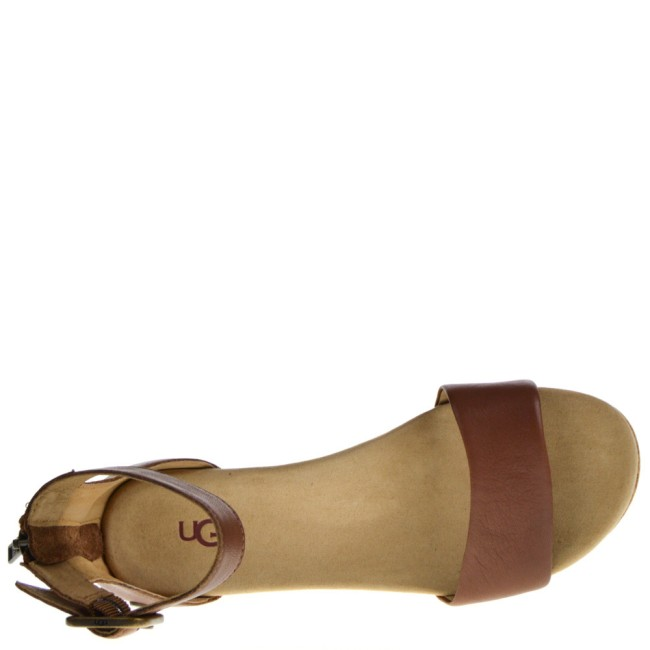 UGG Dames Sleehak Sandalen in Naturel online kopen