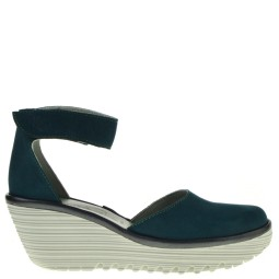 fly london dames sandalen sleehak groen