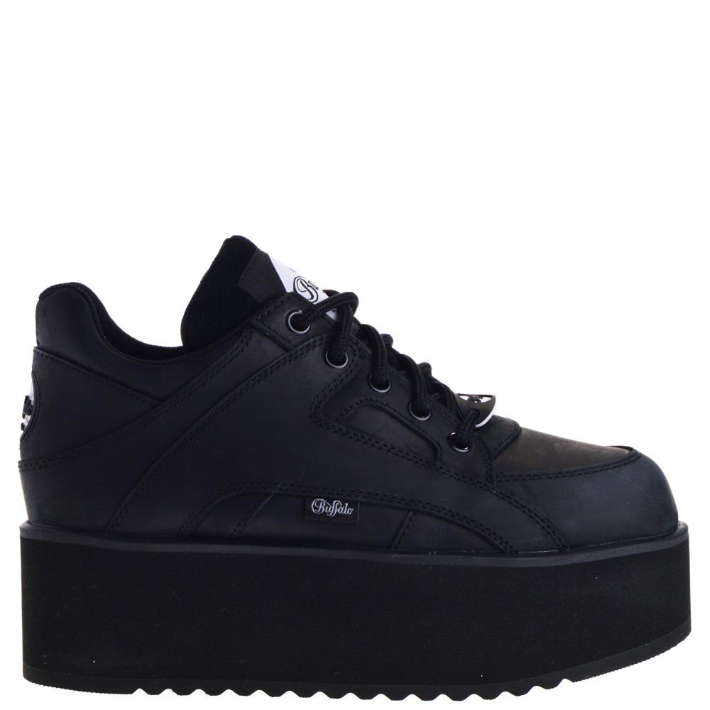 Buffalo Platform Sneakers Black for Women