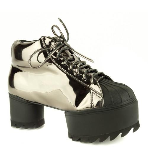 on sale a940b 2abb3 Jeffrey Campbell Shoes Laces Plato Metallic for Women