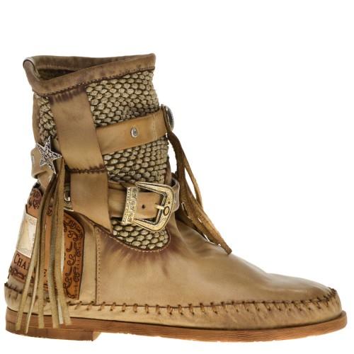 hete producten brede selectie nieuwe stijlen KARMA OF CHARME ANKLE BOOTS BEIGE FOR WOMEN