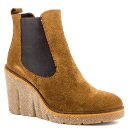 taft shoes dames sleehak enkellaars camel