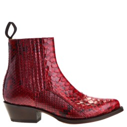 tony mora dames westernboots rood piton