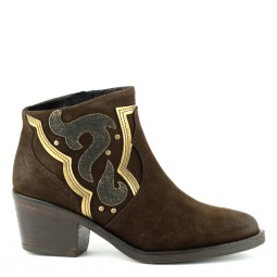 Bronx Ankle Boots Brown for Women