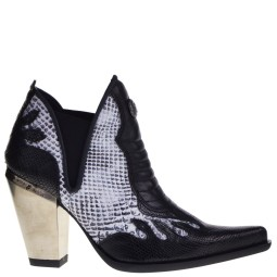 new rock dames western boots wit-zwart