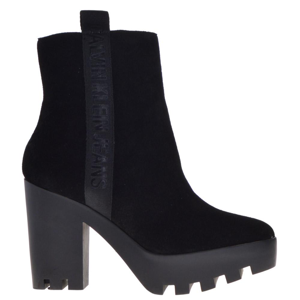 Calvin Klein Platform Ankle Boots Black