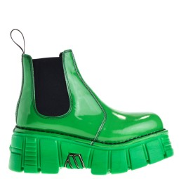 new rock dames chelsea boots groen