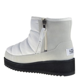 UGG Ridge Mini Dames Enkellaarsjes in Wit online kopen