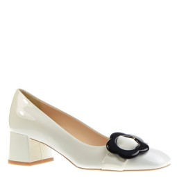 evaluna dames pumps wit lak