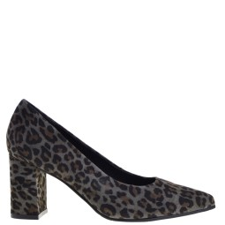 tube dames pumps leopard grijs