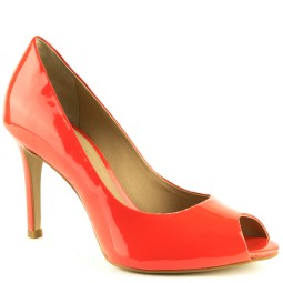 tube dames pumps high heels oranje