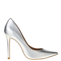 tube dames pumps zilver
