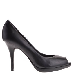 tube dames pumps plateauzool zwart