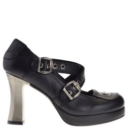 new rock dames pumps plato zwart