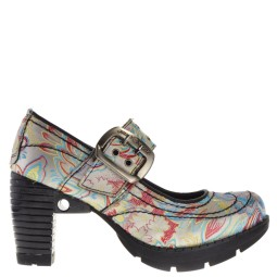 new rock dames pumps plateauzool wit