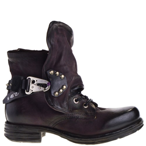half off cffd9 42f9f AS98 ANKLE BOOTS PURPLE FOR WOMEN
