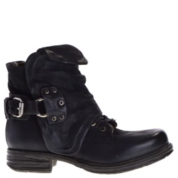 AS98 dames veterboots zwart