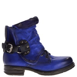 AS98 dames veterboots blauw