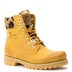 panama jack dames halfhoge veterboot naturel