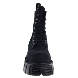 New Rock MILI083C-RC7 Dames Veterboots in Zwart kopen bij Taft Shoes