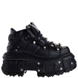 New Rock TANK106-C2 Dames Veterboots in Zwart kopen bij Taft Shoes