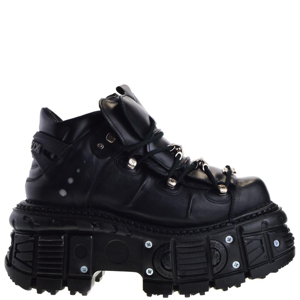 New Rock Platform Shoes Black for Women