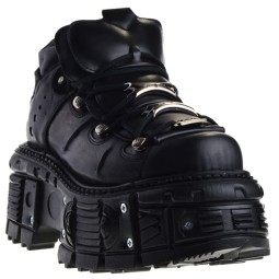 New Rock TANK106-C2 Dames Veterboots in Zwart online kopen