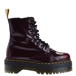 dr. martens dames veterboots cherry red